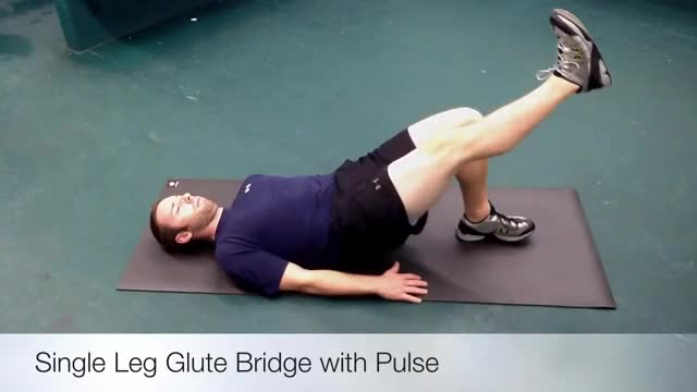 Single Leg Hip Bridge Pulse demonstration