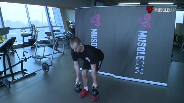 Alternating Kettlebell Row demonstration