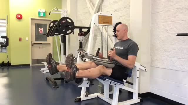 Lever Single Leg Seated Leg Curl (plate loaded) demonstration