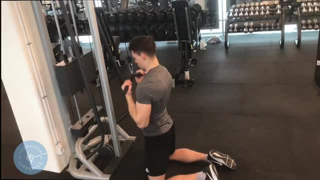 Male Cable Chin-up demonstration