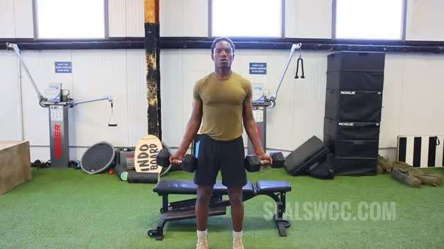 Standing Dumbbell Biceps Curl demonstration