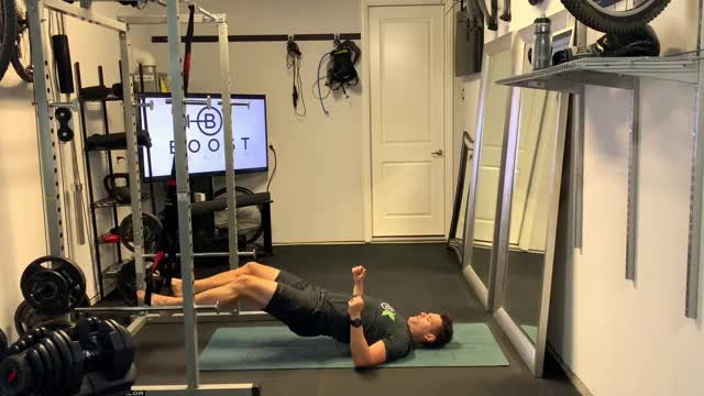 Suspended Hanging Leg Curl demonstration