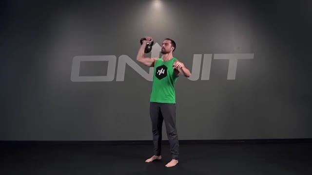 One-Arm Kettlebell Push Press demonstration