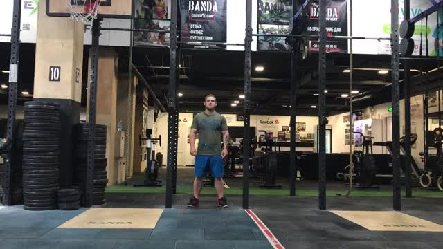 Burpee Pull-Up demonstration