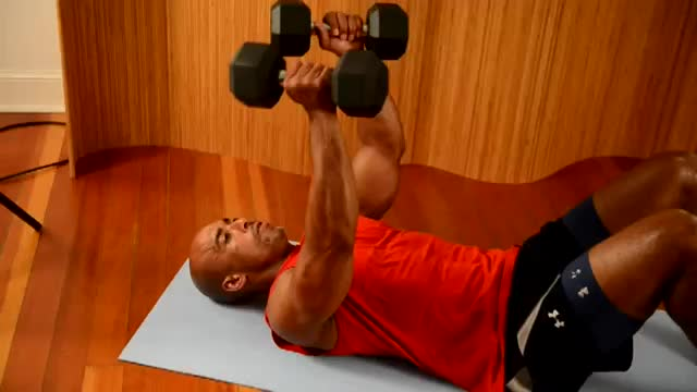Rolling Dumbbell Extension demonstration