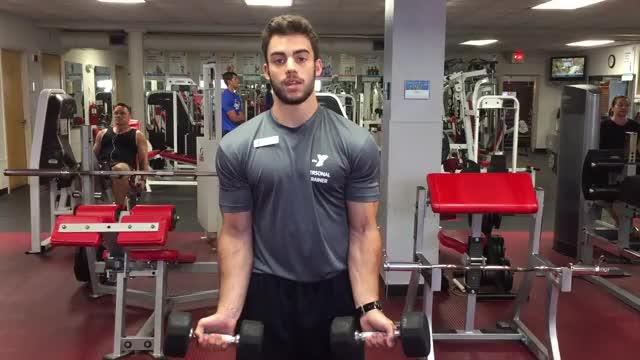 Biceps Curl To Shoulder Press demonstration