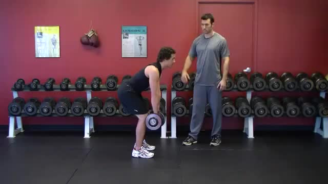 Male Bent Over Dumbbell Row (Pronated Grip) demonstration