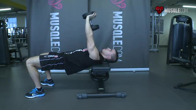 Bent-Arm Dumbbell Pullover demonstration