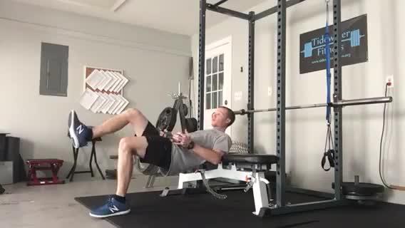 Single Leg Hip Thrust with Dumbbell demonstration