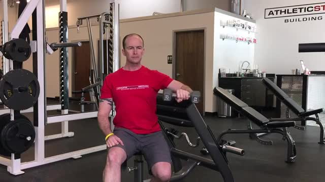 Bench Supported Dumbbell External Rotation demonstration