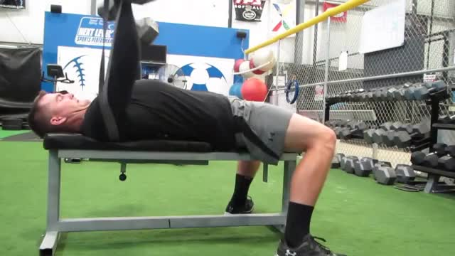 Resistance Banded Dumbbell Bench Press demonstration