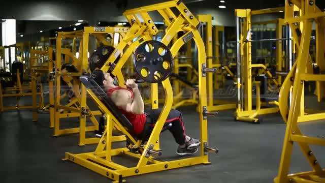 Lever Reclined Shoulder Press (plate loaded) demonstration