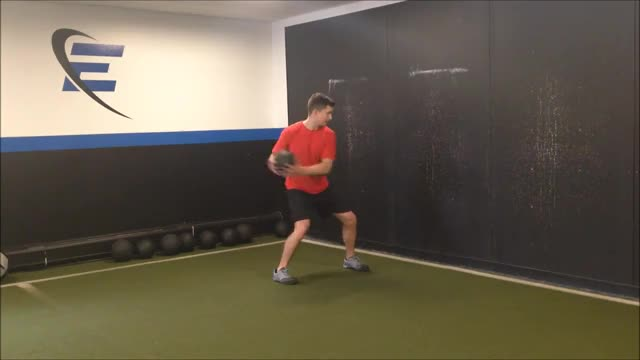 Medicine Ball Rotation Scoop Throw demonstration