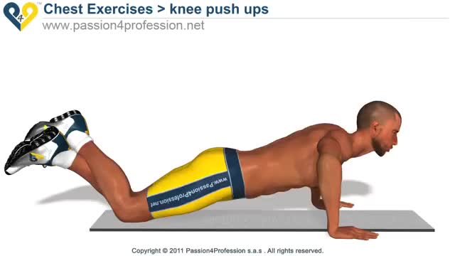 Push-up (on knees) demonstration
