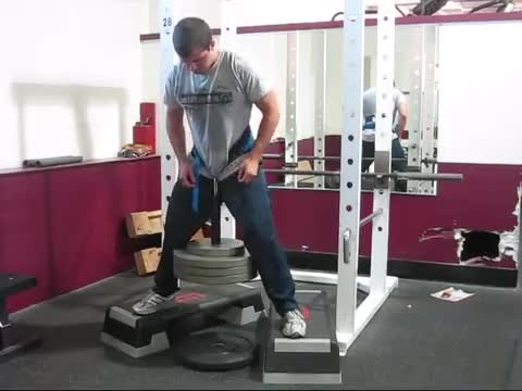 Weighted Squat demonstration