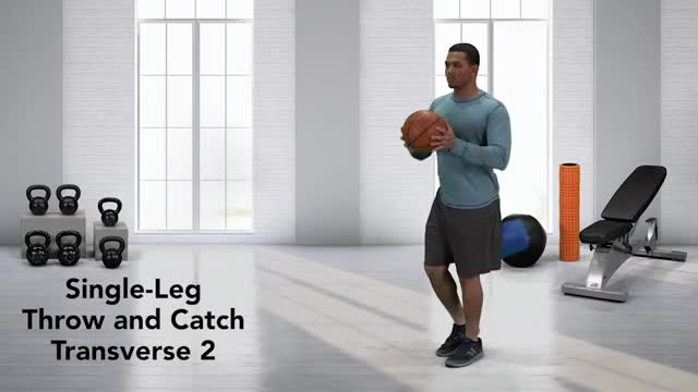 Single-Leg Throw and Catch Transverse 2 demonstration