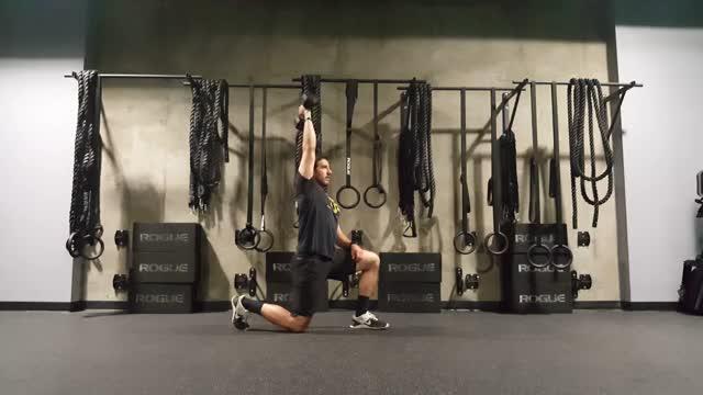 Half Kneeling Dumbbell Single arm Overhead Tricep Extension demonstration