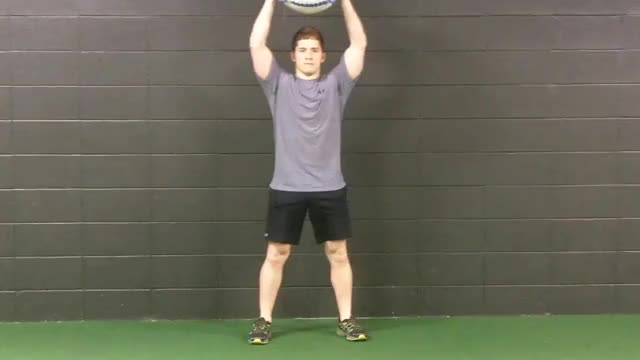 Medicine Ball Slam demonstration