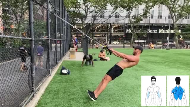TRX Face Pull to Row demonstration