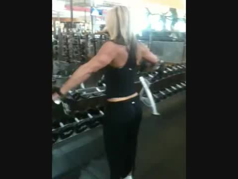 Female Lateral Raise Partials demonstration