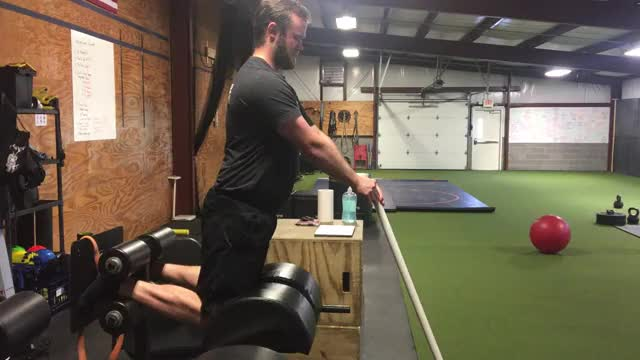 Glute-Ham Raise (PVC Pipe Assisted) demonstration