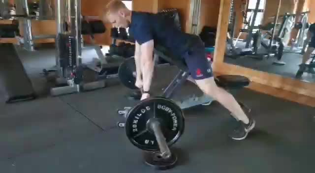 Incline Bench Pull demonstration