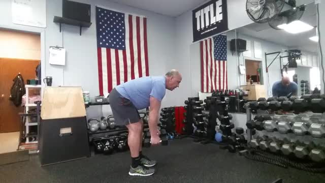 Dumbbell Bent Over Row to Tricep Kickback demonstration