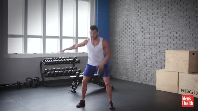 Single Kettlebell Clean and Press demonstration