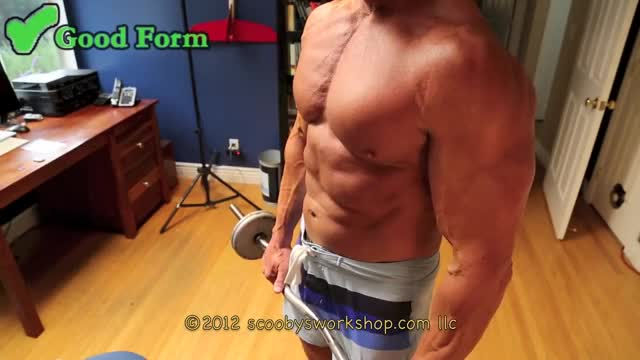 Reverse-Grip Barbell Biceps Curl demonstration