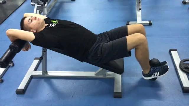 Weighted Incline Leg-Hip Raise demonstration