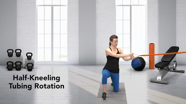 Female Half-Kneeling Tubing Rotation demonstration