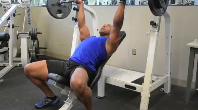 Reverse-Grip Incline Bench Press demonstration