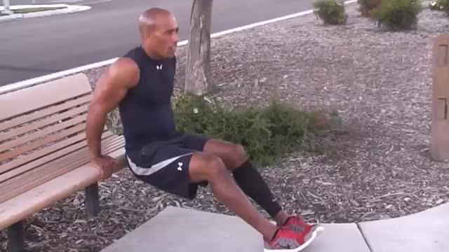 Bench Dip (heels on floor) demonstration