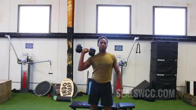 Single-Arm Standing Dumbbell Shoulder Press demonstration