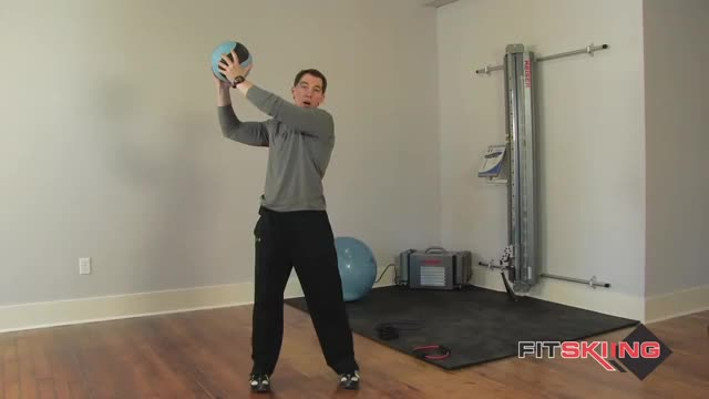 Medicine Ball Diagonal Chop demonstration