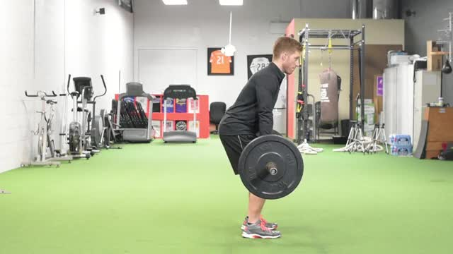 Barbell Jump Shrug demonstration