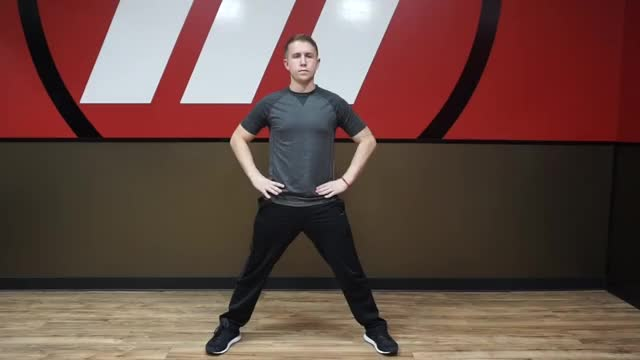 Active Standing Adductor Stretch demonstration