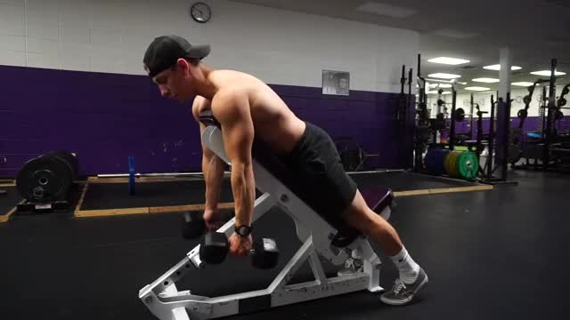 Neutral Grip Chest Supported Dumbbell Row demonstration
