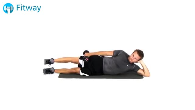 Male Dumbbell Lying Hip Abduction demonstration