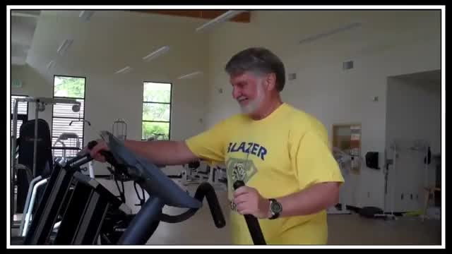 Male Elliptical Trainer demonstration