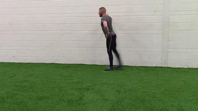 Front leg swing demonstration