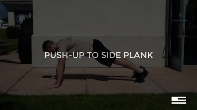 Push Up to Side Plank demonstration