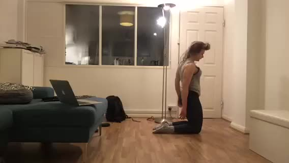 Female Kneeling Abdominal Stretch demonstration