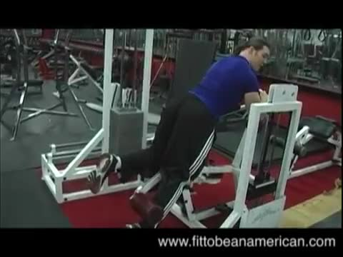 Lever Kneeling Leg Curl demonstration