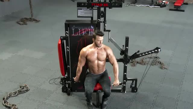 Male Cable Alternating Seated Front Raise demonstration