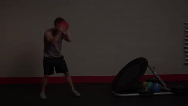 Medicine Ball Chest Throw (on rebounder) demonstration