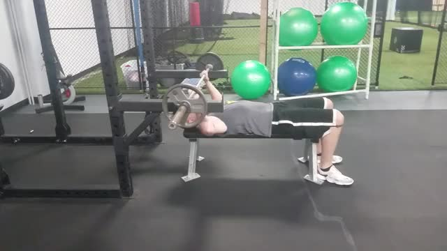 Barbell Pin Bench Press demonstration