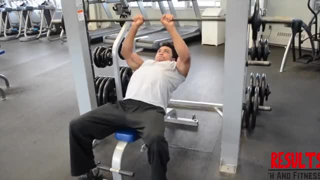 Male Smith Close Grip Incline Bench Press demonstration