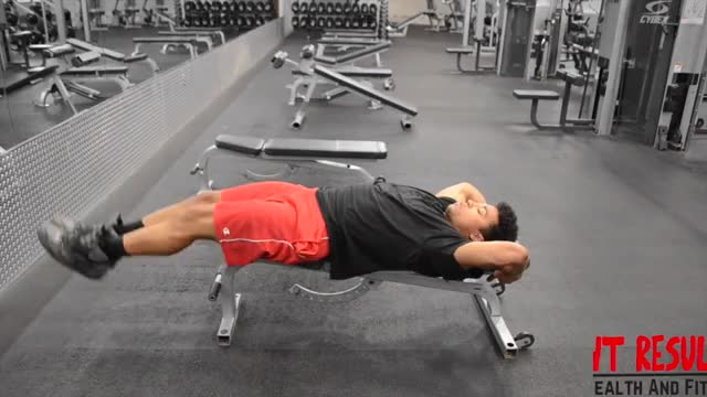 Lying Straight Leg Raise (on Bench) demonstration