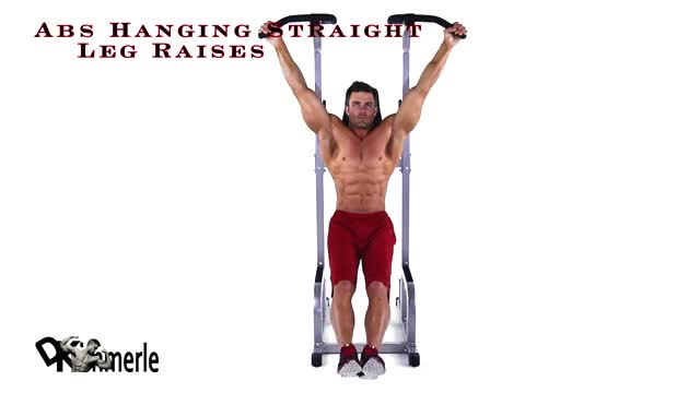 Hanging Straight Leg Raise demonstration